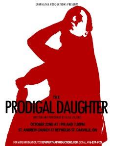 St. Andrew's Oakville Prodigal Daughter Poster 2014