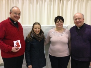 With Luisa, Rev. Martin A. Vallely and Rev. Michael W. Downey